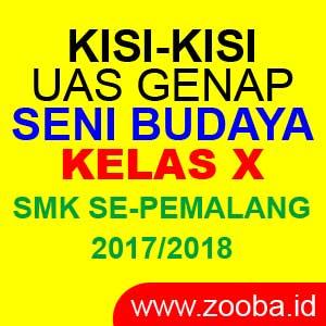 Kisi-Kisi UAS Genap Seni Budaya SMK 2018