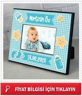 Erkek Bebeklere Özel Fotoğraf Çerçevesi