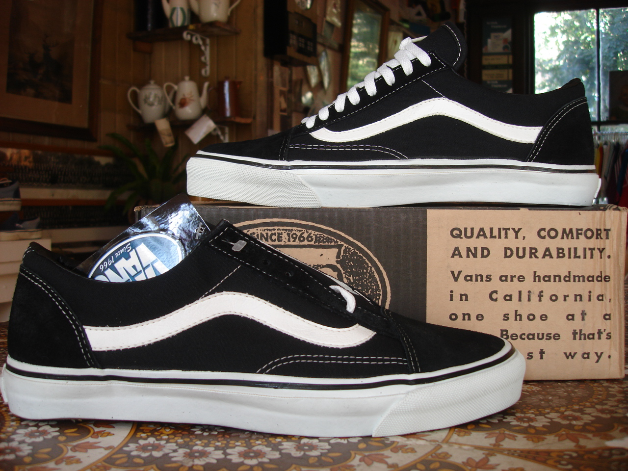 27988a087685 theothersideofthepillow  vintage VANS black suede OLD SKOOL style  36 MADE  IN USA US12 minor threat punk