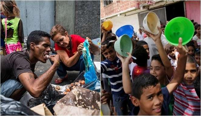 Miris, Warga Venezuela Mengais Makanan di Tempat Sampah
