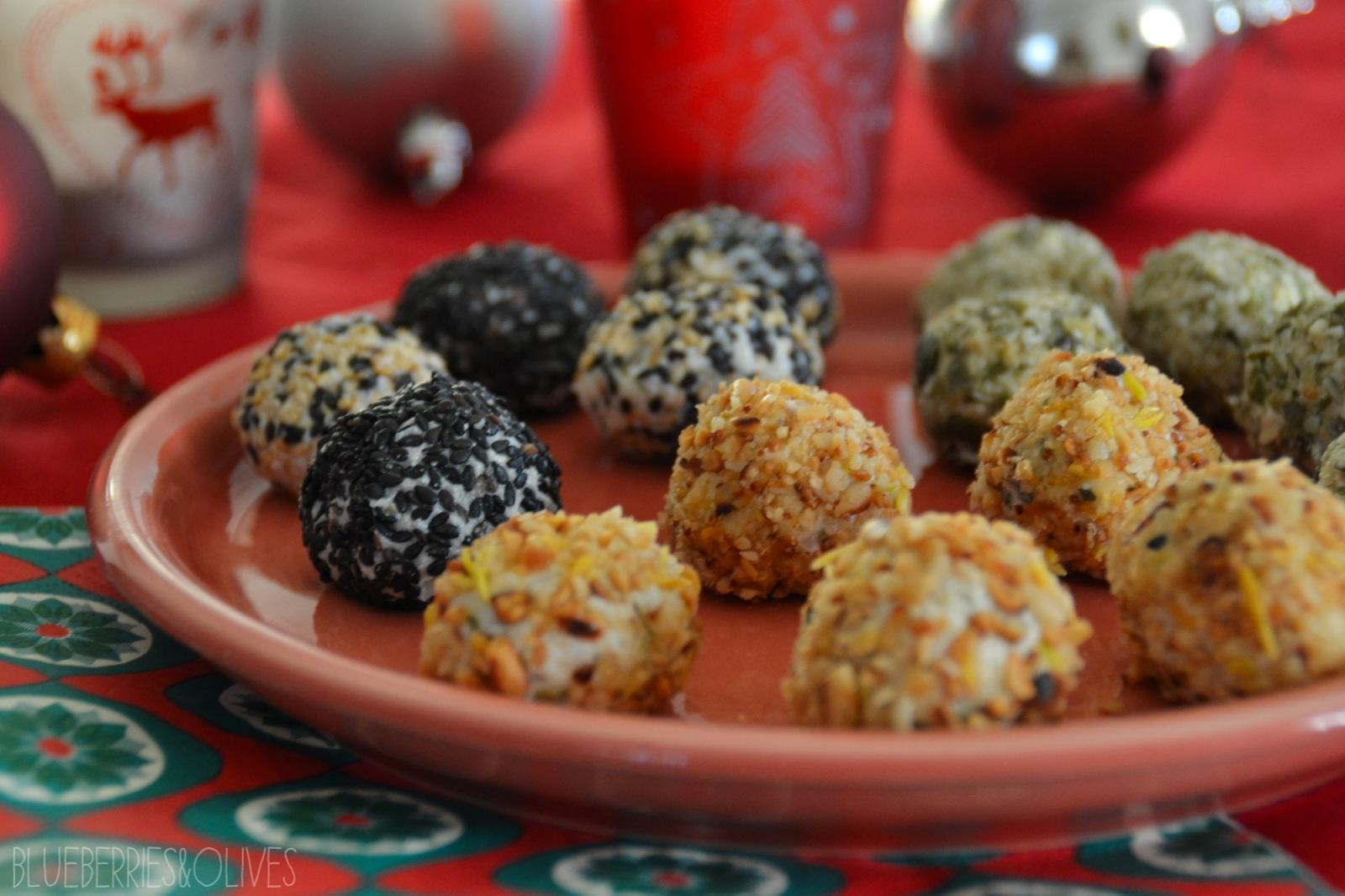 Bombones de queso con piña y frutos secos 1