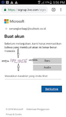Cara isi captch email microsoft