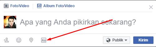 Cara terbaru menggunakan status facebook yang keren