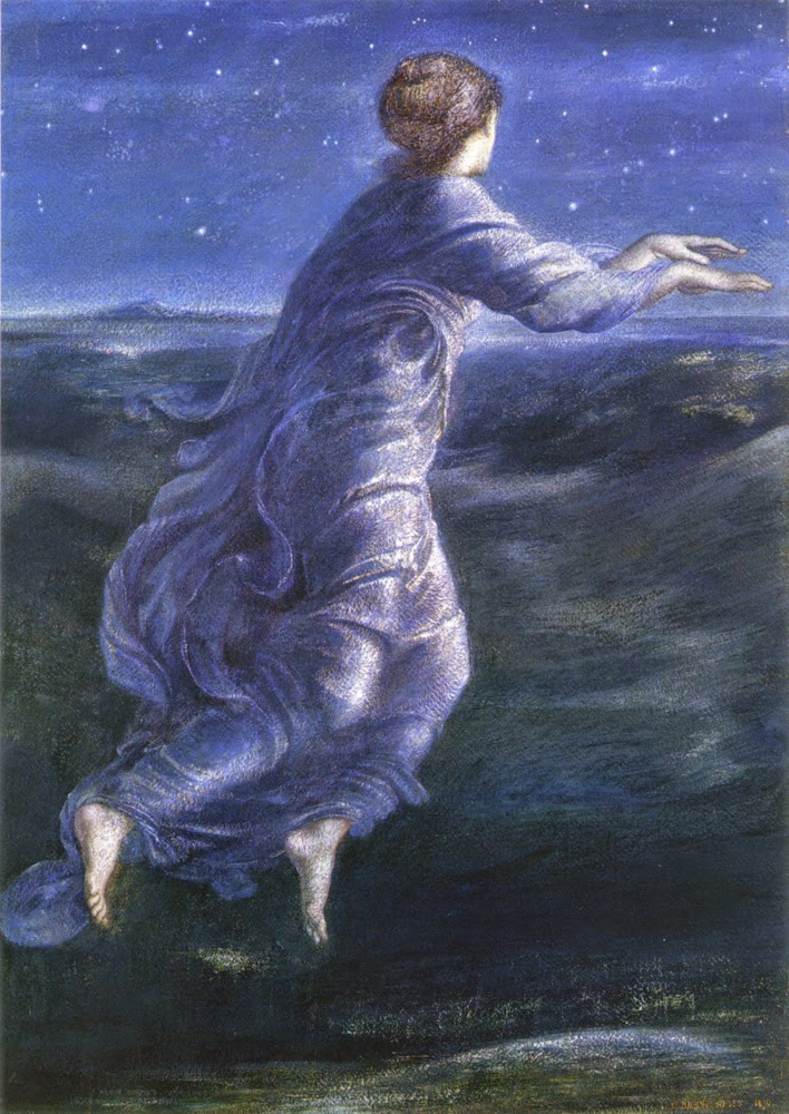 Night, Edward Burne Jones, British, 1870, Image courtesy Wikimedia Commons