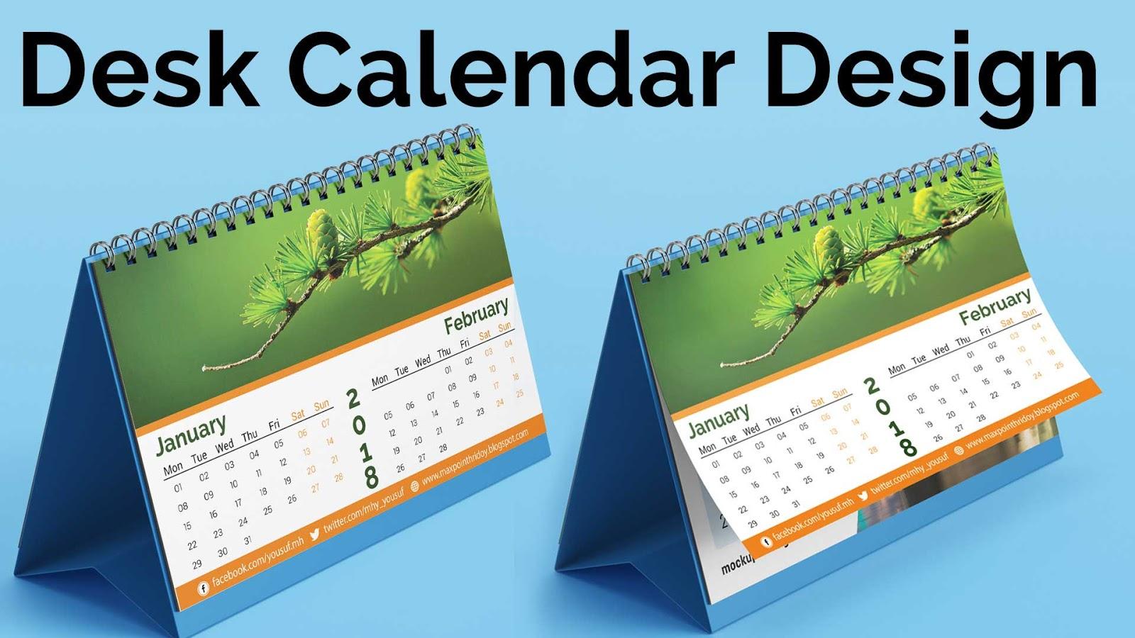 Calendar Design 2018   How to Create a Desk Calendar in