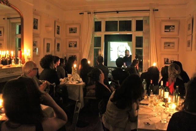 David Trent, comedian at my Underground Restaurant supper club, comedy night