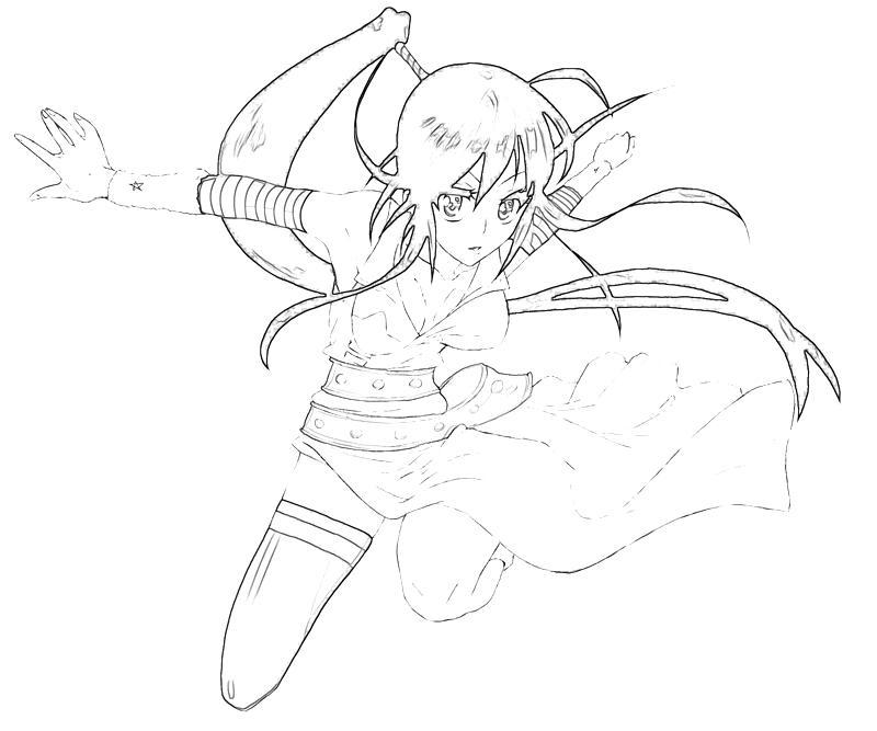 Anime character coloring pages soul eater ~ Soul Eater Tsubaki Nakatsukasa Character   Tubing
