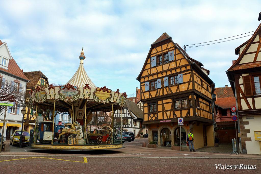 Plaza de la Estrella de Obernai, Alsacia