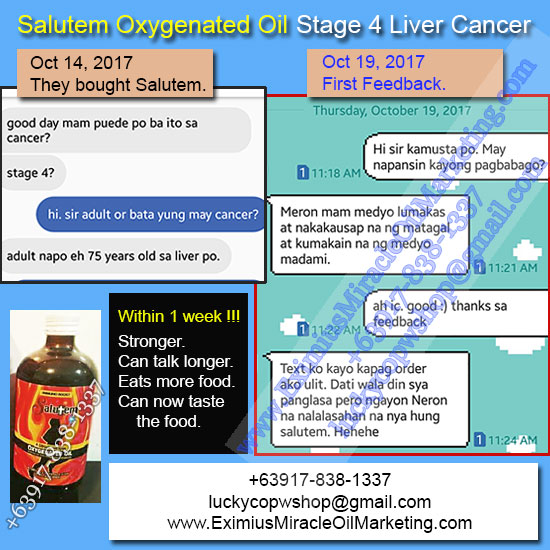salutem oxygenated oil stage 4 liver cancer testimonial