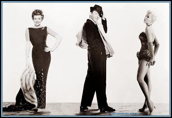 Fotografía de Rita Hayworth, Frank Sinatra y Kim Novak en la película Pal Joey.