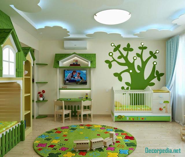 gypsum ceiling designs for kids room, false ceiling pop design 2019