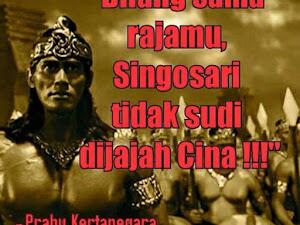 """Kisah Prabu Kertanegara Potong Kuping Utusan Cina """"Bilang Sama Rajamu, Singosari Tak Sudi Dijajah Cina!"""""""
