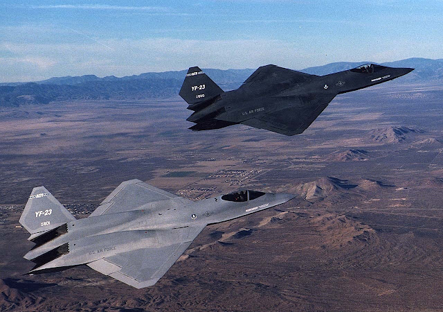 Twin Northrop YF-23 Grey and Black