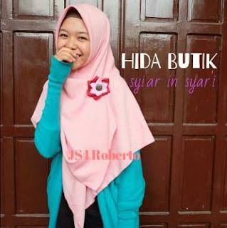 jilbab segi empat syari tebal lebar bahan roberto premium yang nyaman dipakai
