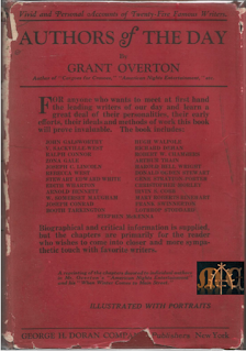 Authors of the Day (1924) - Grant Overton