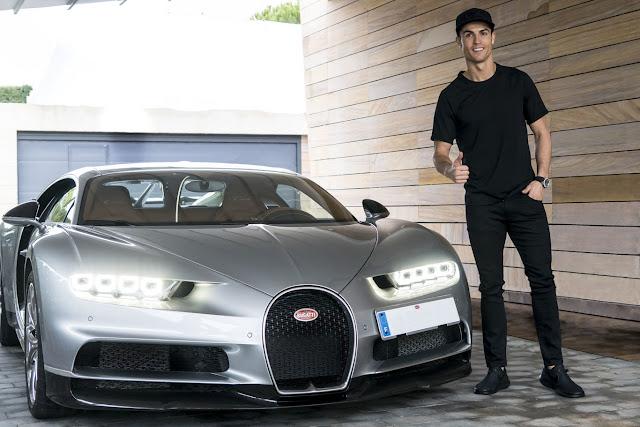 Bugatti Chiron with Spanish registration of Cristiano Ronaldo