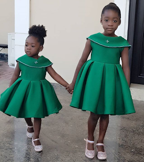 Photo of Purity and Angel,Mercy Johnson's beautiful Daughters