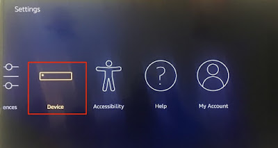 Click the Device option on settings