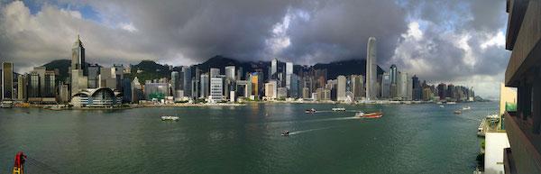 インターコンチネンタル香港のハーバービューだ