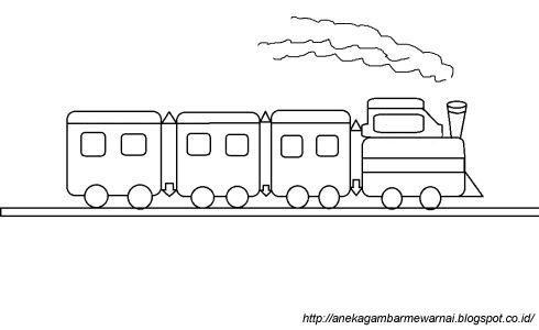 Gambar Kereta Api Untuk Mewarnai Gambar Mewarnai Kereta Api Sederhana Untuk Anak Paud Dan Tk