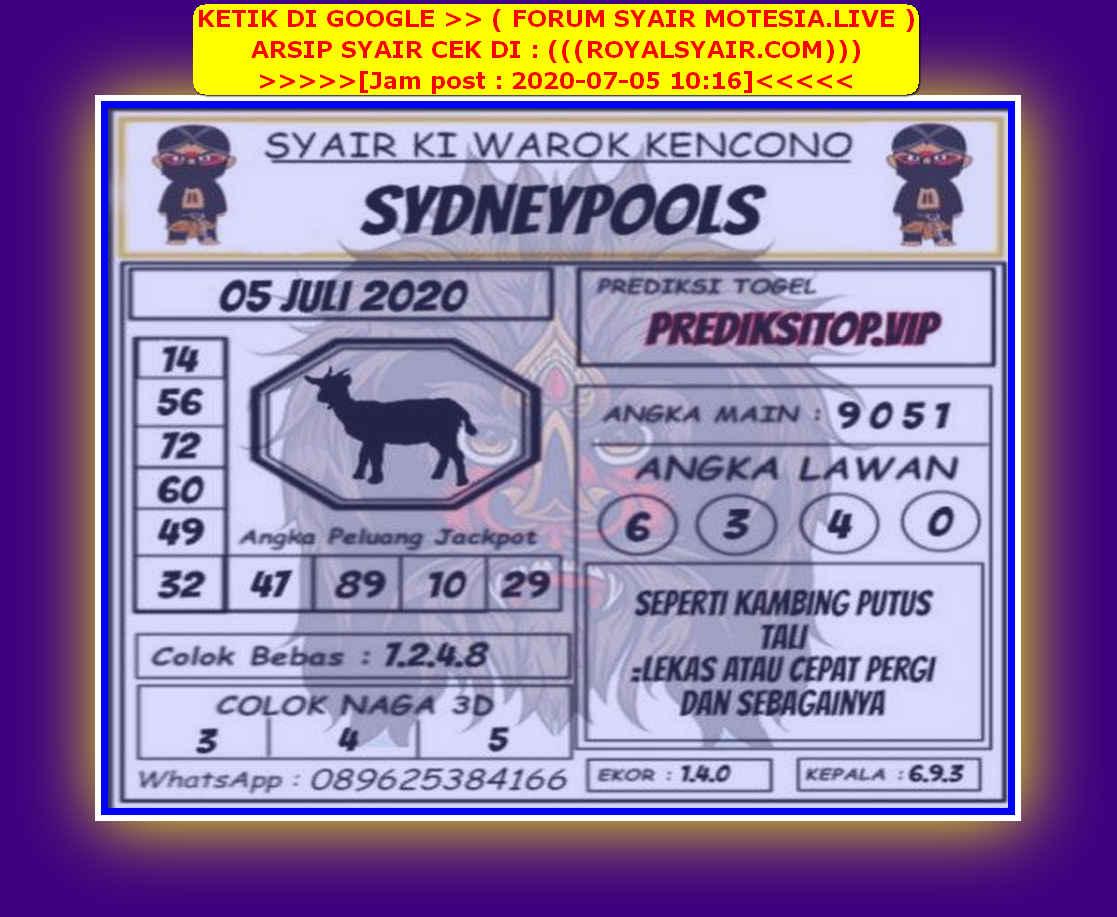 Kode syair Sydney Minggu 5 Juli 2020 115