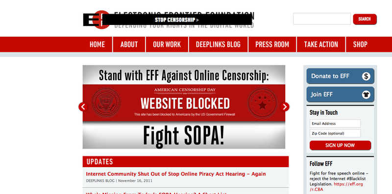 Stop Online Piracy Act (SOPA) and Internet Censorship Bill, Tech Word Protest