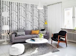 Contoh Gambar Wallpaper Dinding Rumah Minimalis untuk Ruang Tamu