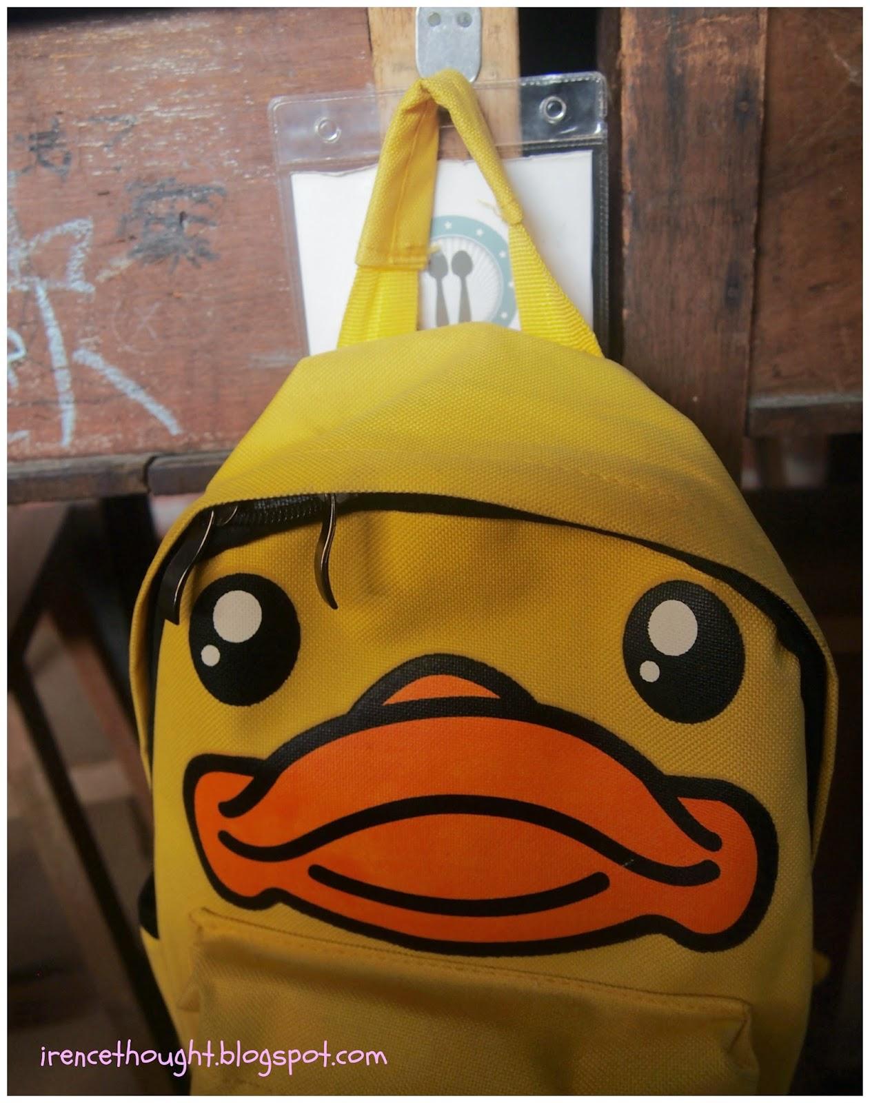Hanging school bag