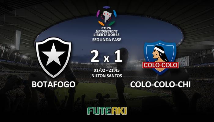 Veja o resumo da partida com os gols e os melhores momentos de Botafogo 2x1 Colo-Colo-CHI pela Segunda Fase da Libertadores 2017.