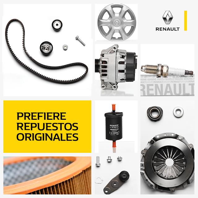 Renault mejora servicio brindando repuestos de calidad y garantía