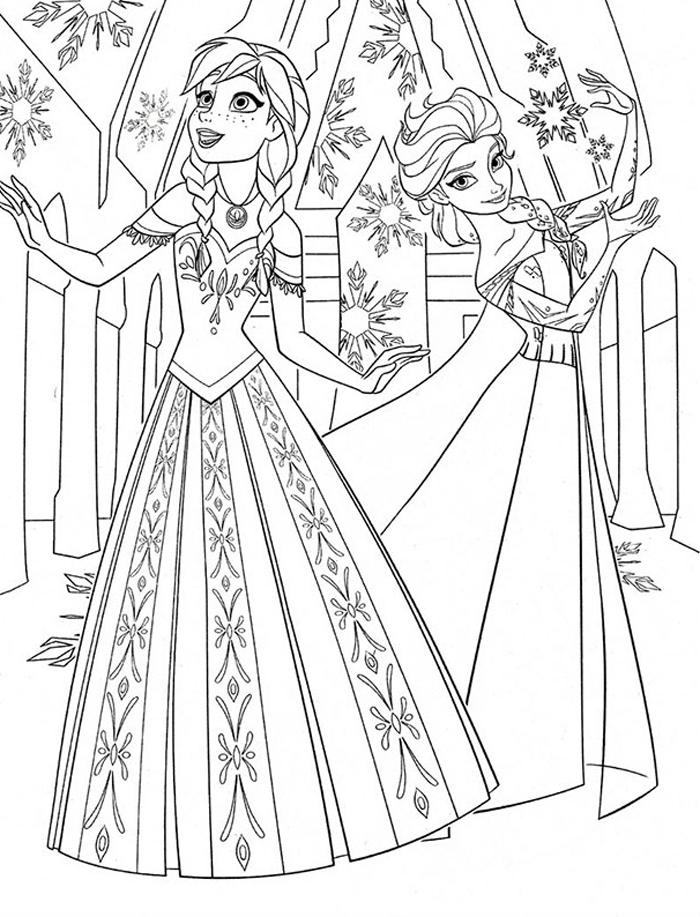 Tranh tô màu công chúa băng giá