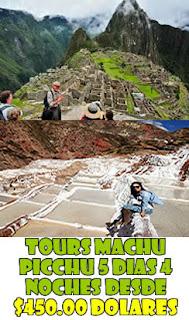 Tour precios a Machupicchu