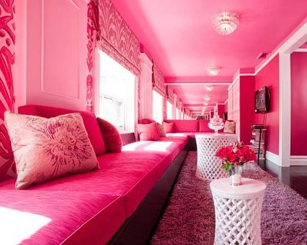 Beautiful Pink Living Room Design 2014 ~ Home Inspirations