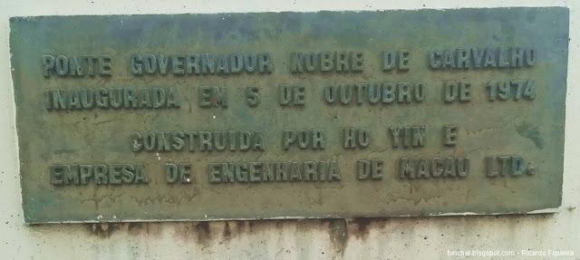 PONTE NOBRE DE CARVALHO - MACAU