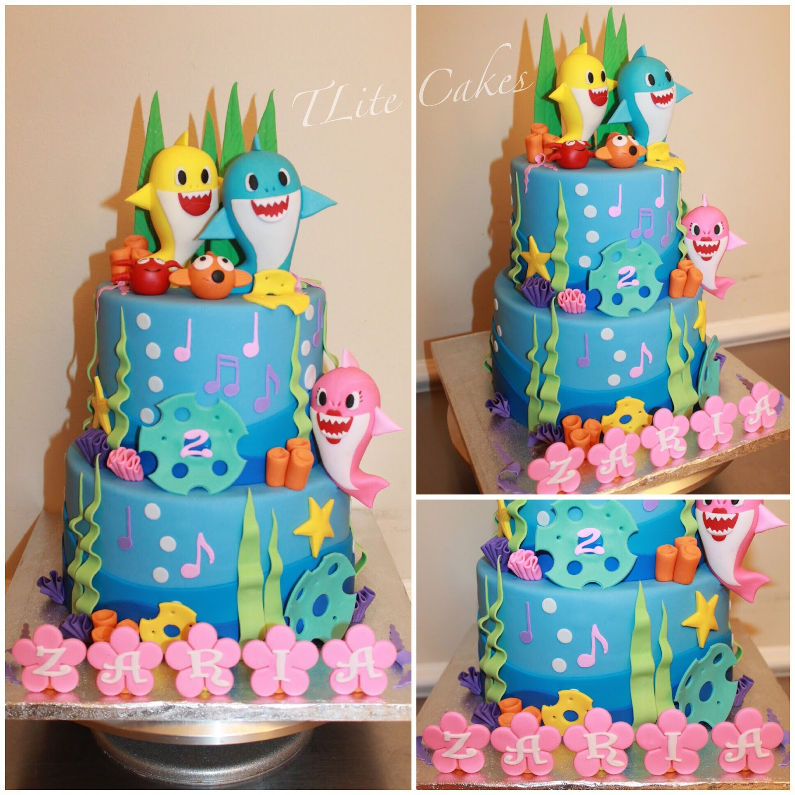Incredible Tlite Cakes And Planning Baby Shark 2Nd Birthday Funny Birthday Cards Online Aboleapandamsfinfo