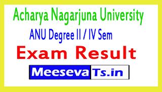 Acharya Nagarjuna University ANU Degree II / IV Sem Exam Results 2017