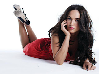 Fiery Megan Fox In Red Outfit 3