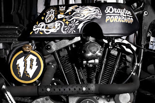 sportster ironhead drayton porkchop engine side right