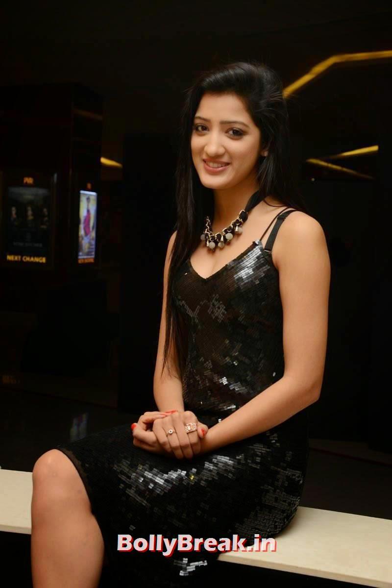 Tollywood Actress Richa Panai, Richa Panai Hot Hd Pics in Shiny Black Short Dress