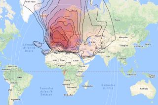 Footprint Satellite Eutelsat Hot Bird 13B 13.0°E KU Band