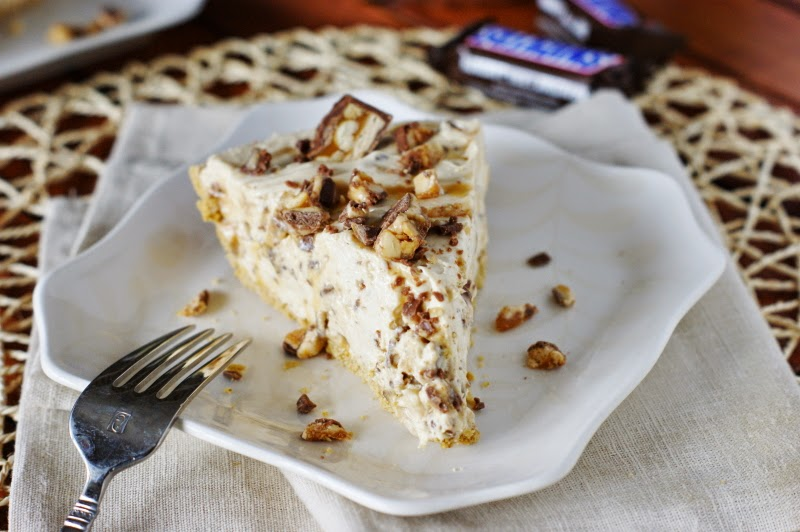No-Bake Snicker Bar Pie