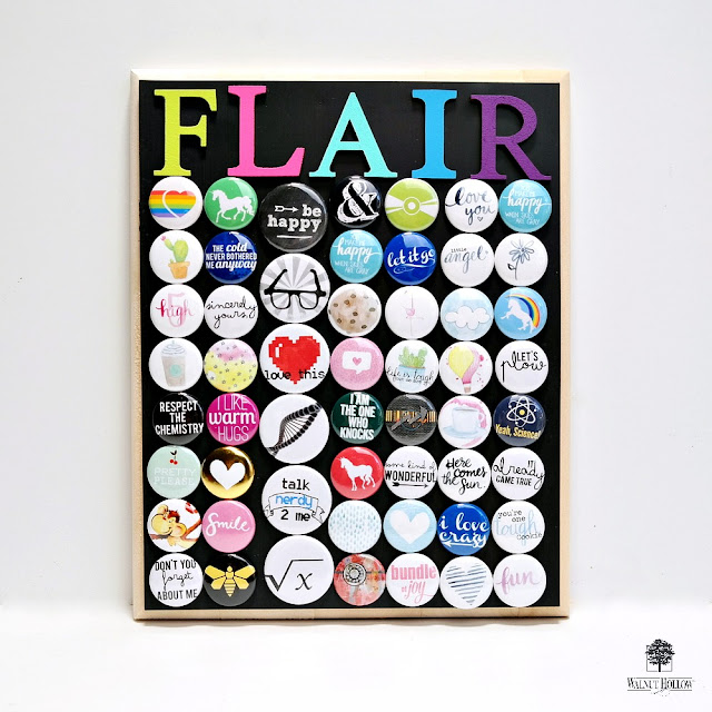 DIY Magnetic Flair Board by Dana Tatar