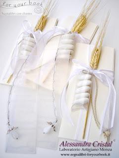 bomboniere comunione segnalibro inciso personalizzato angelo