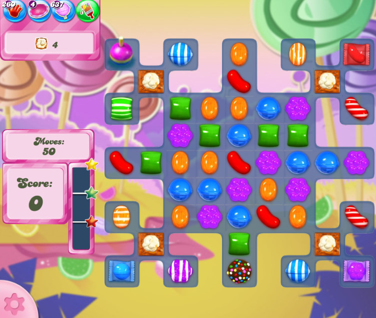 Candy Crush Saga level 2607