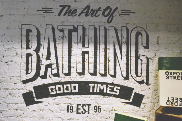 Lush Art of Bathing Wall