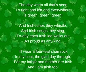 Funny St Patrick's day 2018 poems
