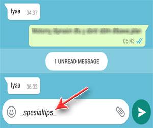 Bentuk Huruf Miring (Italic) WhatsApp