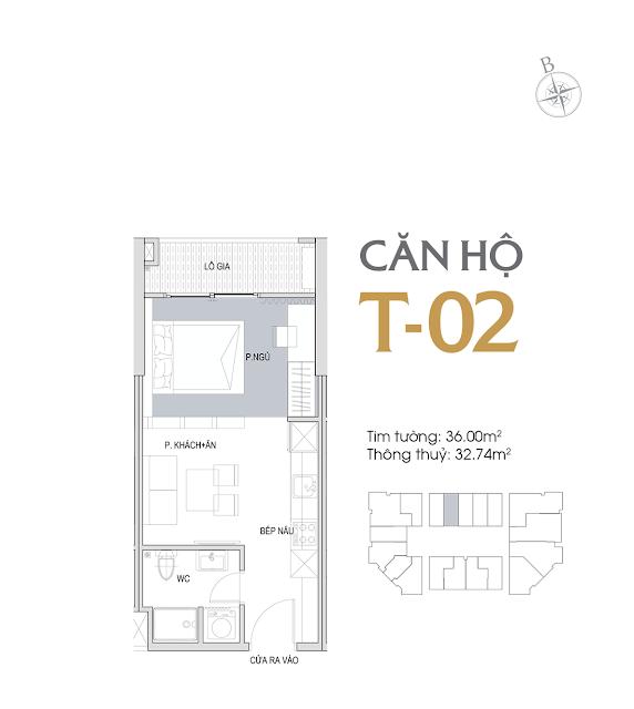 Thiết kế chi tiết căn hộ E1-02 dự án D'el Dorado phú thượng