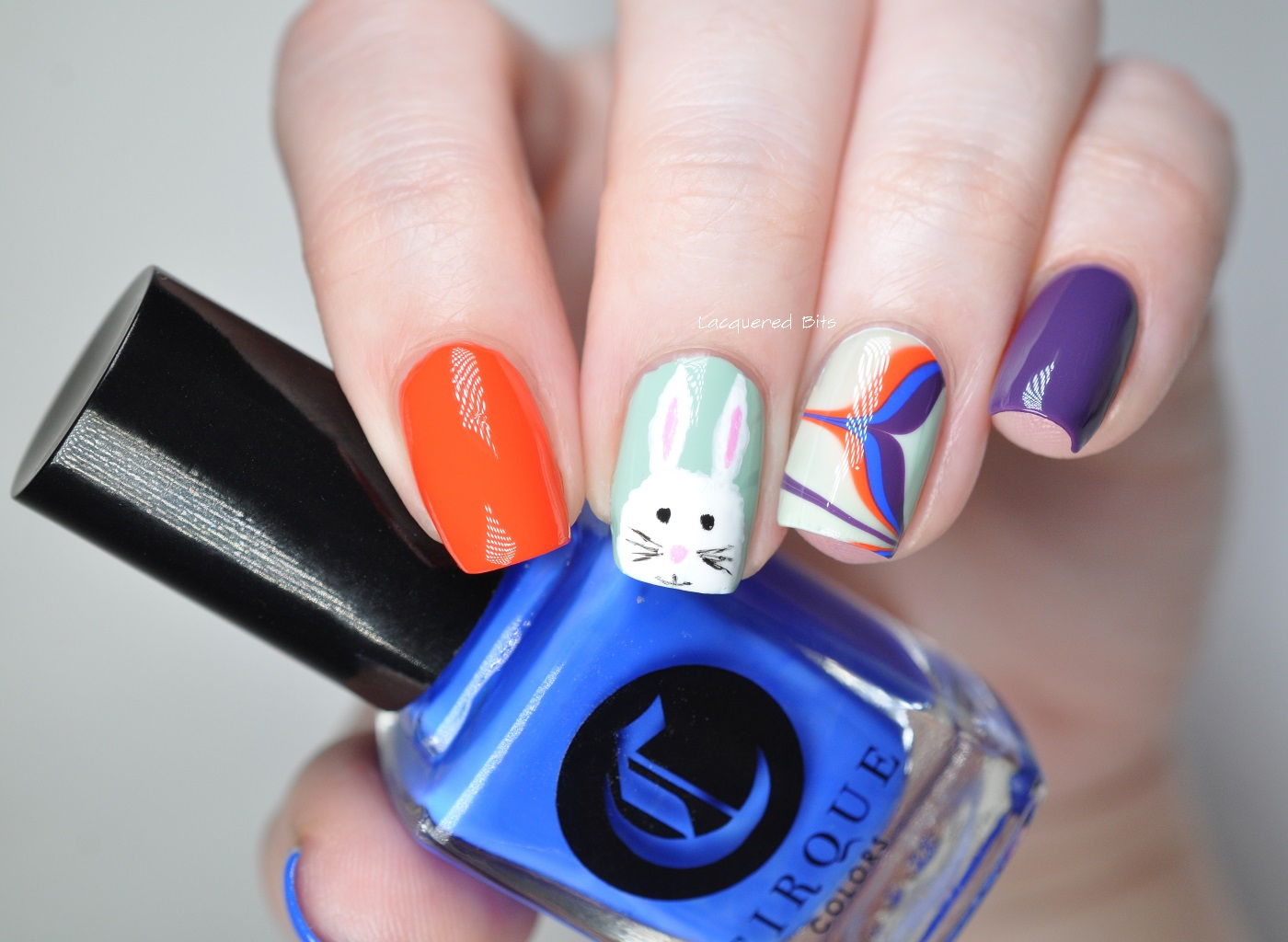 Easter Bunny As A Nail Art