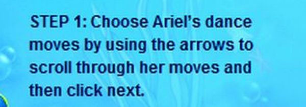 STEP 1: Choose Ariel's dance moves